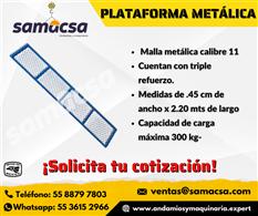 Plataforma metálica y triplay para andamio