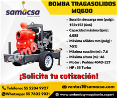 Bomba Tragasolidos MQ600