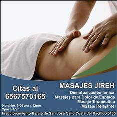 Masaje terapéuticos