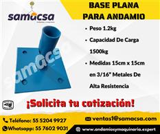 Base plana para andamio Samacsa