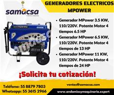 Generador marca MPower de 6.5 kw