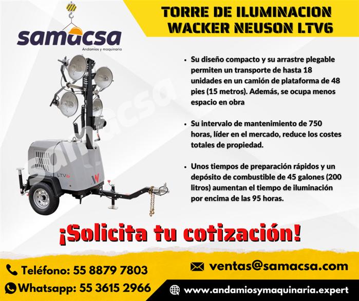 Torre De Iluminación Wacker Mod LTV6