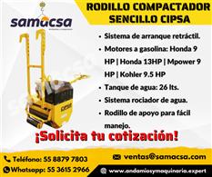 Rodillo sencillo compactador