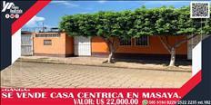 SUPER GANGA VENDO CASA CENTRICA EN MASAYA