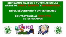 CURSOS Y TURORIAS - FISICA Y MATEMATICAS