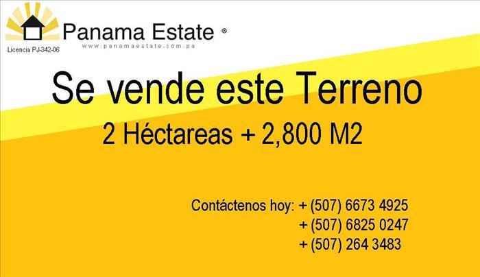 SE VENDE TERRENO EN LAS TABLAS 22,800M2 A SOLO U$52.63 EL M2
