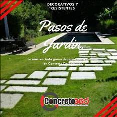 PASOS DE JARDIN DE CONCRETO