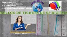 ROLLOS DE TURNOS DE 02 Y 03 DIGITOS