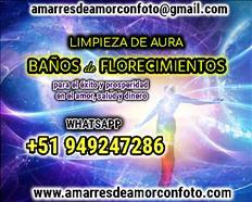 BAÑOS DE FLORECIMIENTOS, LIMPIEZA DE AURA