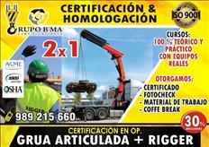 Certificaciones Operadores de Maquinaria