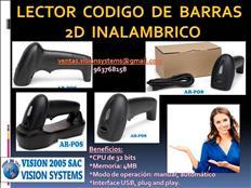 LECTOR DE CODIGO DE BARRAS 2D INALAMBRICO