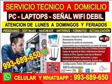 TECNICO PCS REPETIDORES WIFI LAPTOPS CABLEADOS DE RED