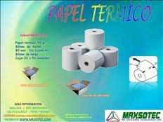 ROLLOS TERMICOS DE 80 X 80 mm / MAXSOTEC