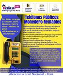 Telefono publico gana por llamadas y recargas a celulares