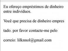 empréstimo urgente mail: lilknnol@gmail.com