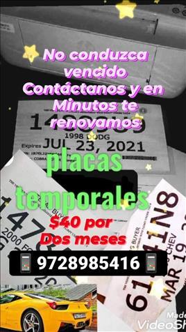 Permisos/Placas/Temporales