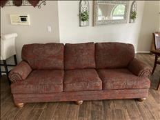 Couch, chair and a half plus ottoman