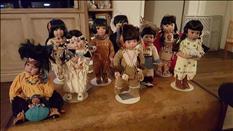 Porcelain Native American dolls