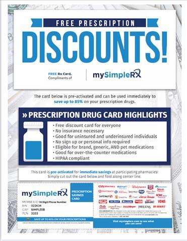 85% Pharmacy Discounts/New Custom Homes U.S.A.-Only